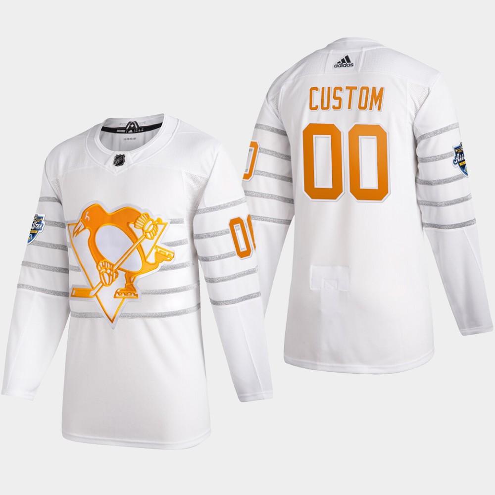 White Men's Jersey Custom Pittsburgh Penguins 2020 NHL All-Star Game