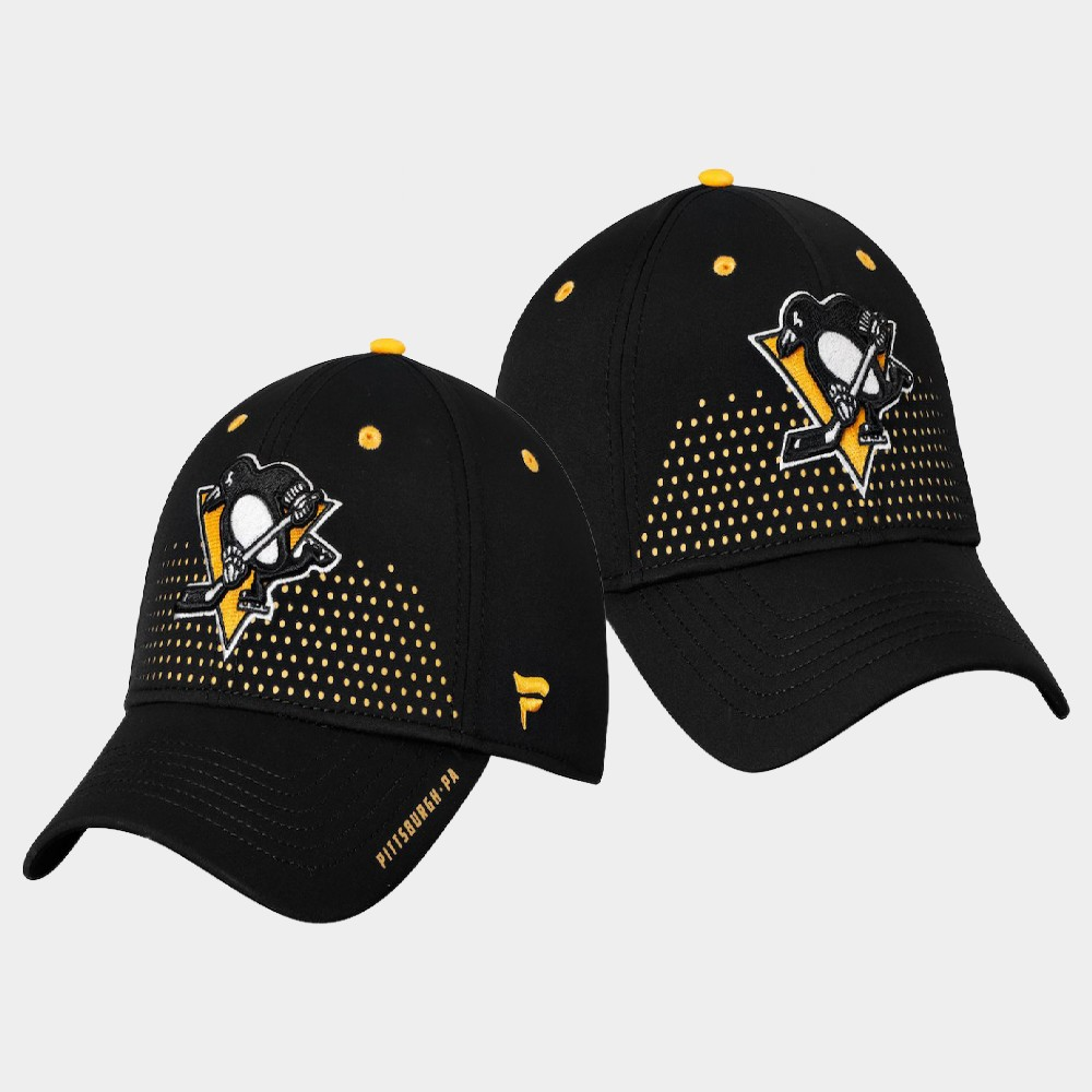 Men's Black Pittsburgh Penguins Hat Draft