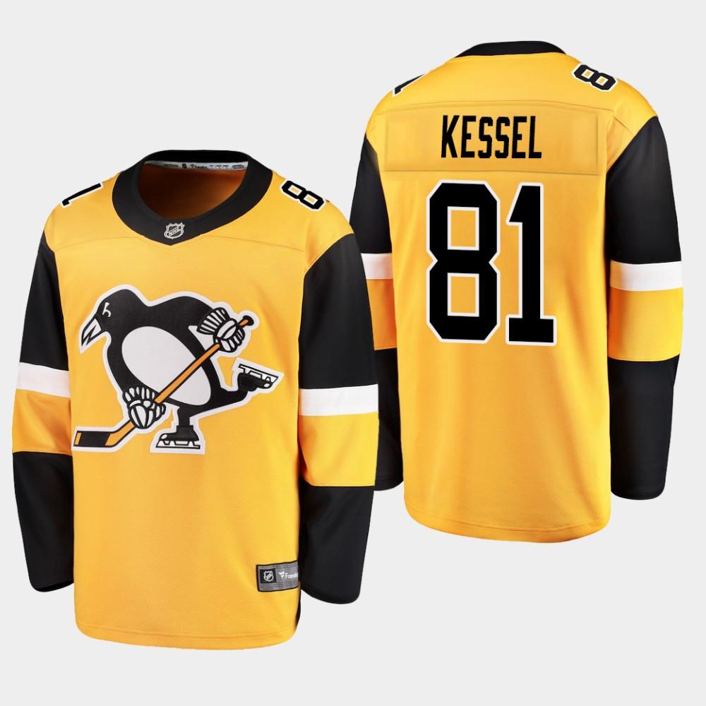 Men's Jersey Alternate Pittsburgh Penguins Gold Phil Kessel