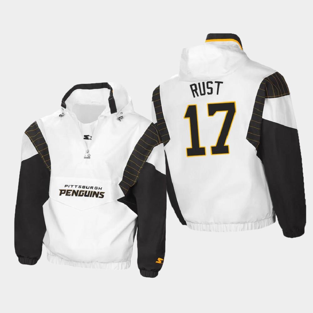 White Men's Pittsburgh Penguins Bryan Rust Spring Trainer Jacket