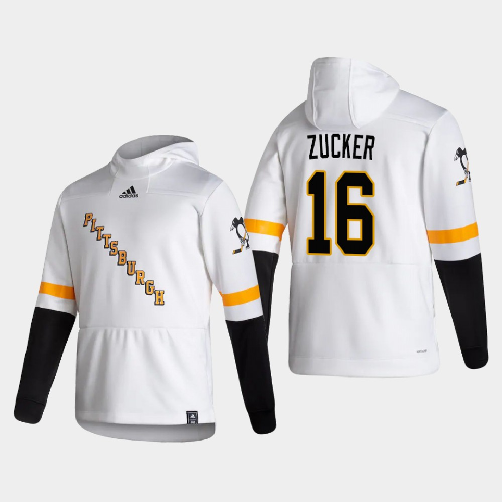 White Men's Reverse Retro Pittsburgh Penguins Jason Zucker Hoodie
