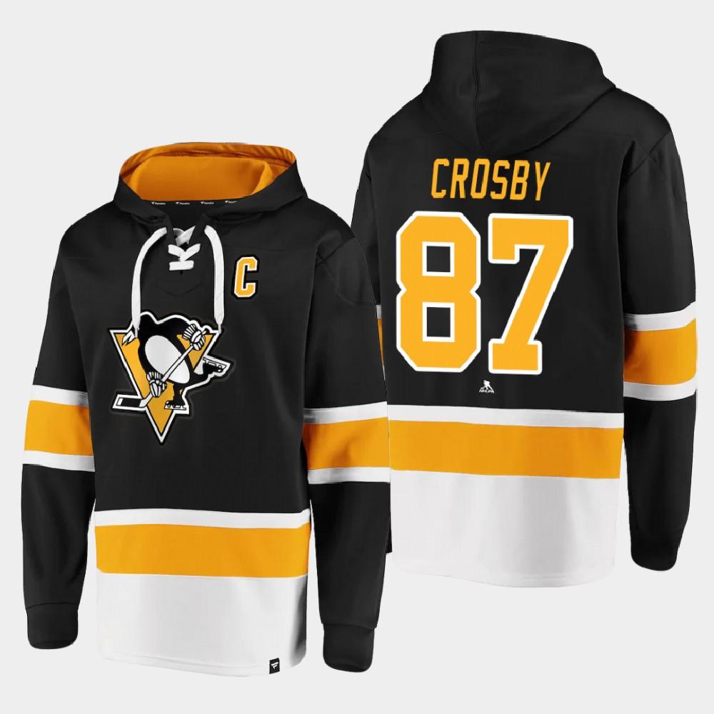 Men's Black Pittsburgh Penguins Sidney Crosby Hoodie Dasher Player