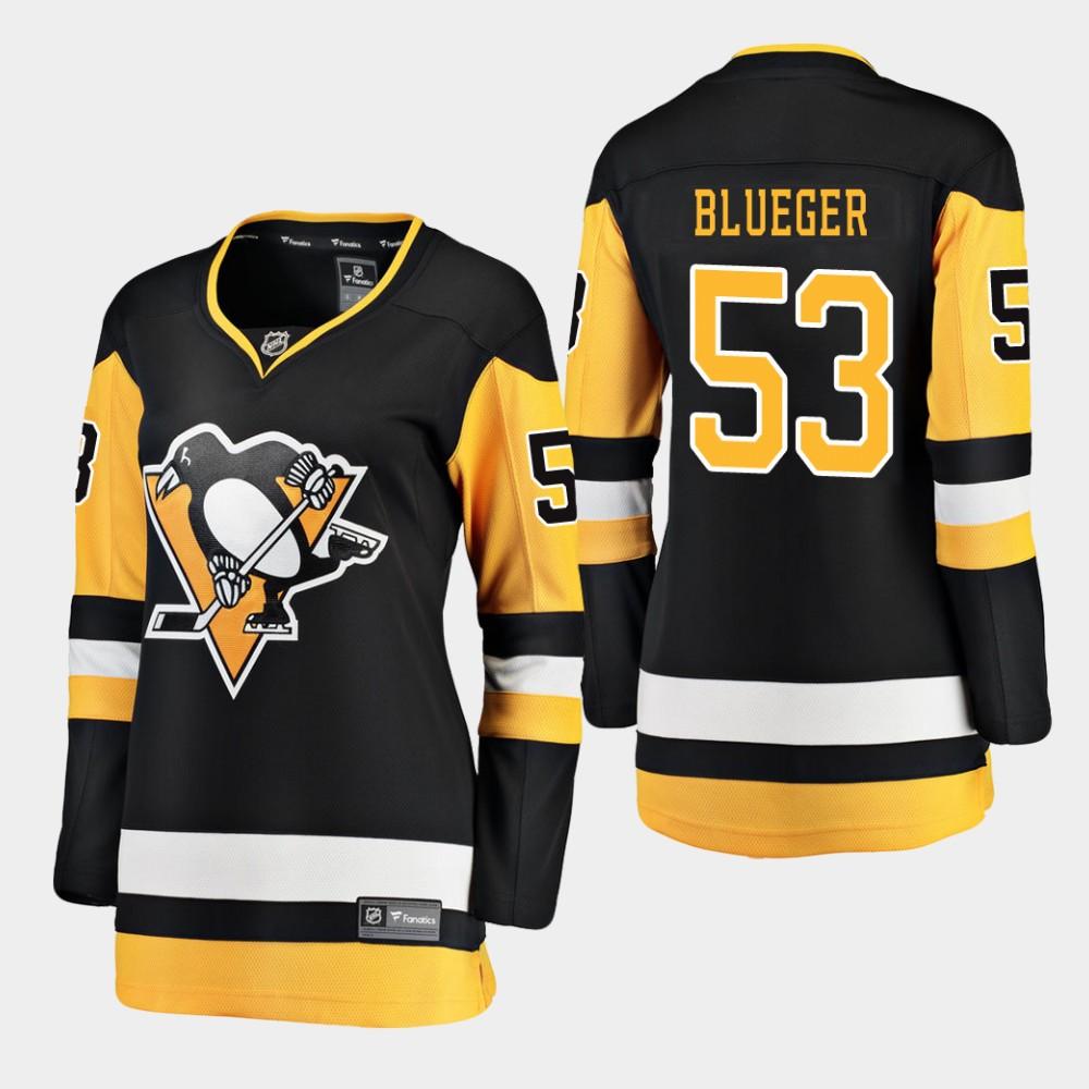 Jersey Home Black Teddy Blueger Women's Pittsburgh Penguins