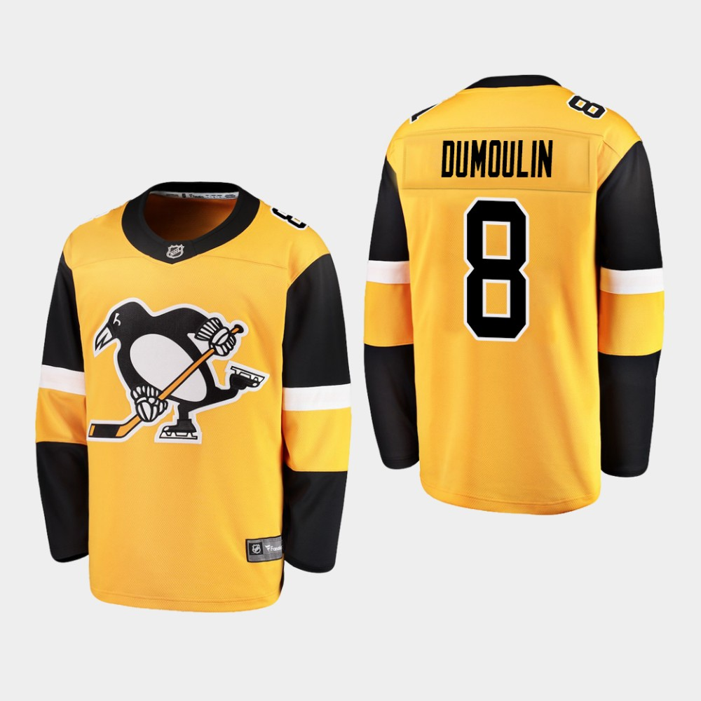 Jersey Alternate Youth Pittsburgh Penguins gold Brian Dumoulin