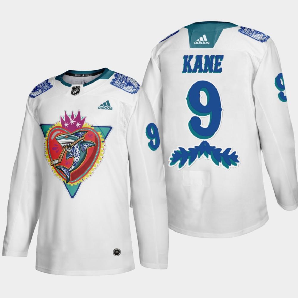 White Men's Jersey San Jose Sharks Los Tiburones Night Evander Kane