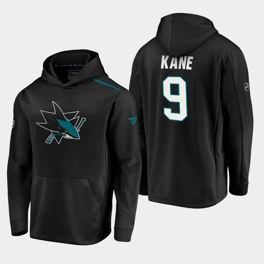 Men's Black San Jose Sharks Evander Kane Hoodie Alternate Logo