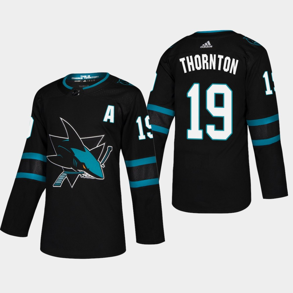 Men's Jersey Black Alternate San Jose Sharks Joe Thornton