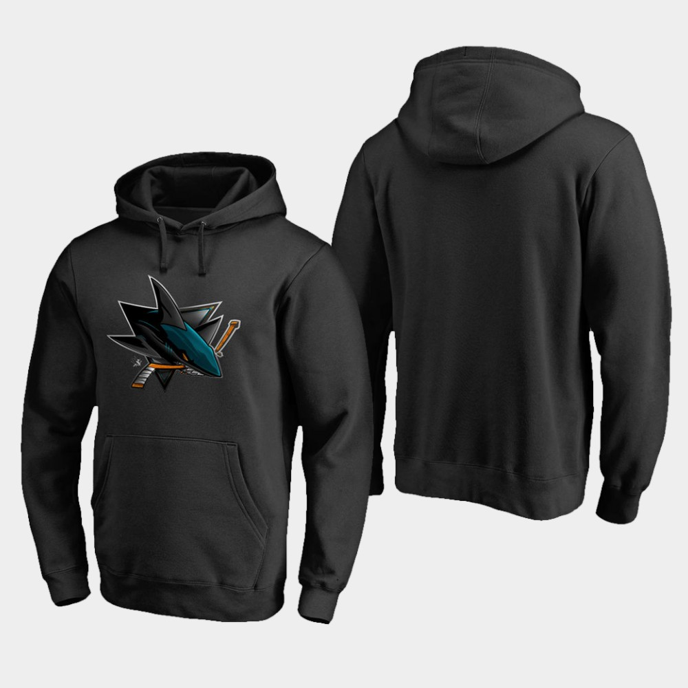 Men's Black San Jose Sharks Hoodie Midnight Mascot