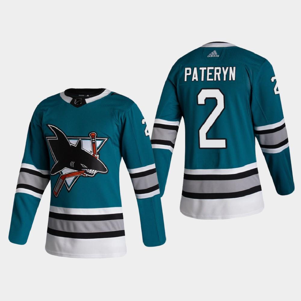 Men's Jersey Blue San Jose Sharks Greg Pateryn Throwback