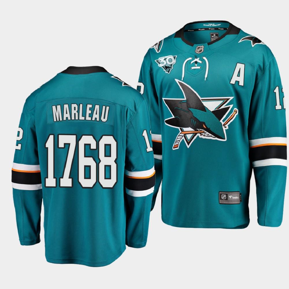 Men's Jersey San Jose Sharks Patrick Marleau Career Teal