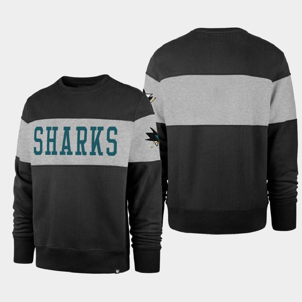 Men's Black San Jose Sharks Sweatshirt Interstate Crew