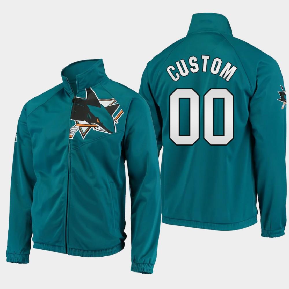 Men's Custom San Jose Sharks Teal Jacket G-III Sports