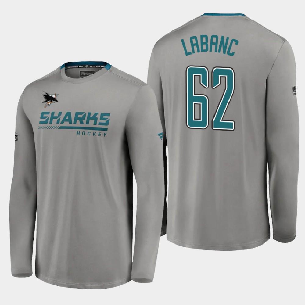Men's Reverse Retro Kevin Labanc San Jose Sharks Gray T-Shirt