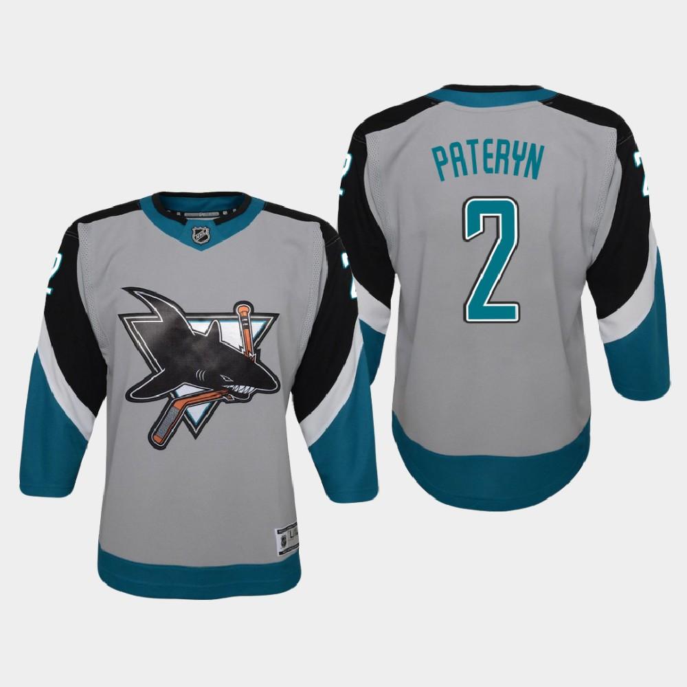 Jersey Reverse Retro Youth San Jose Sharks Greg Pateryn Gray
