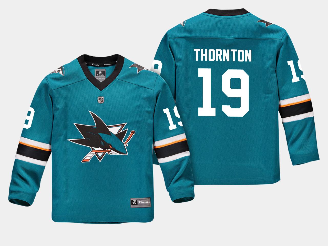Jersey Home Youth San Jose Sharks Teal Joe Thornton