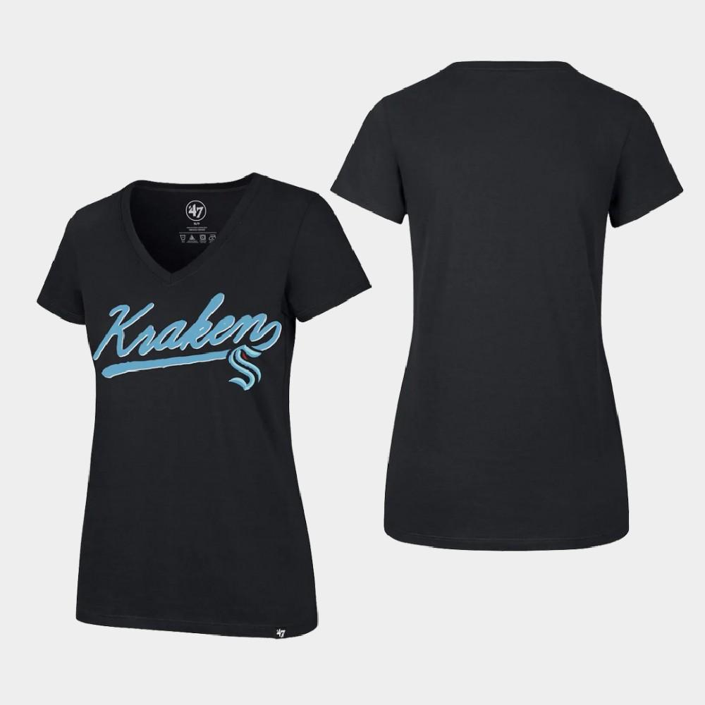 Seattle Kraken Navy Women's T-Shirt Primary Logo
