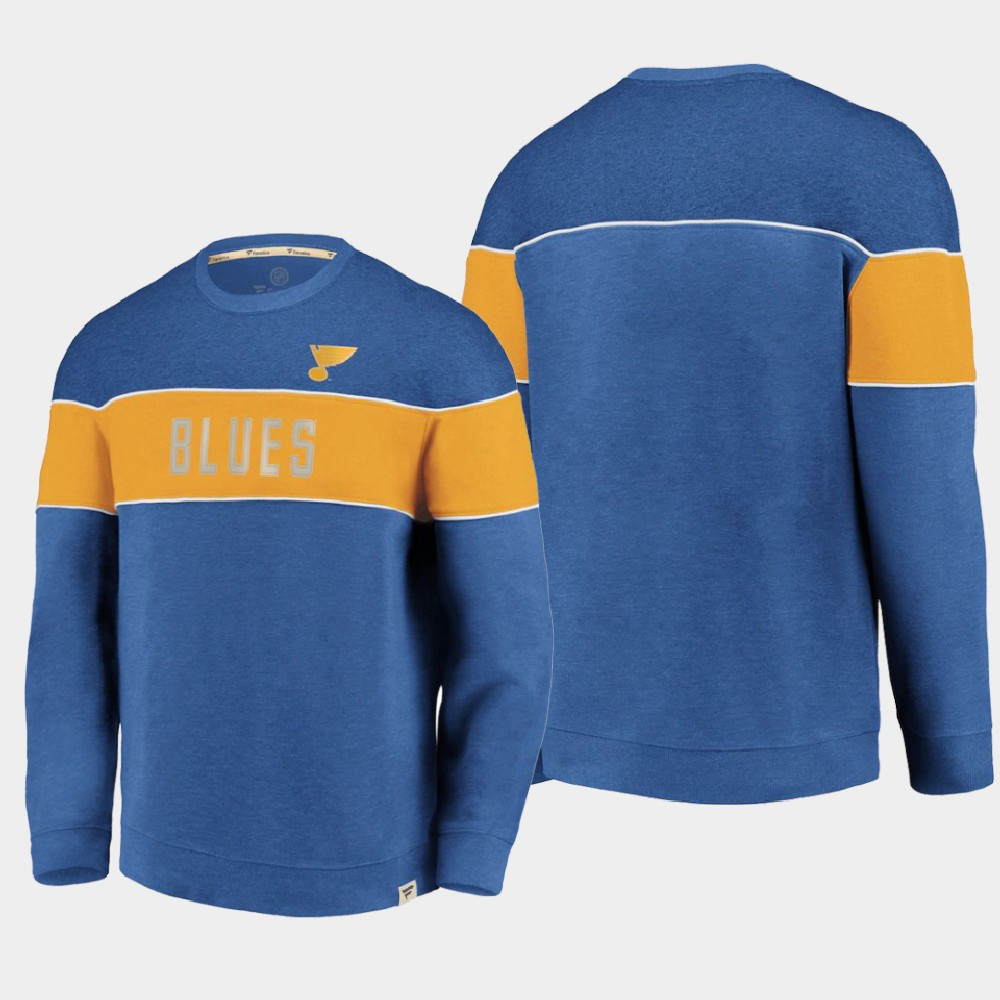 Men's Blue St. Louis Blues Sweatshirt Varsity Reserve