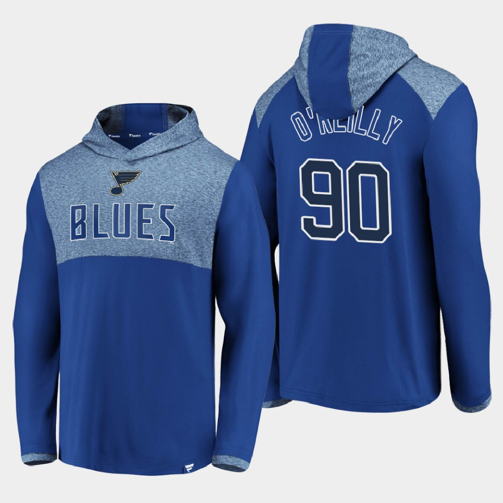 Men's Blue St. Louis Blues Ryan O'Reilly Hoodie Iconic Marbled Clutch