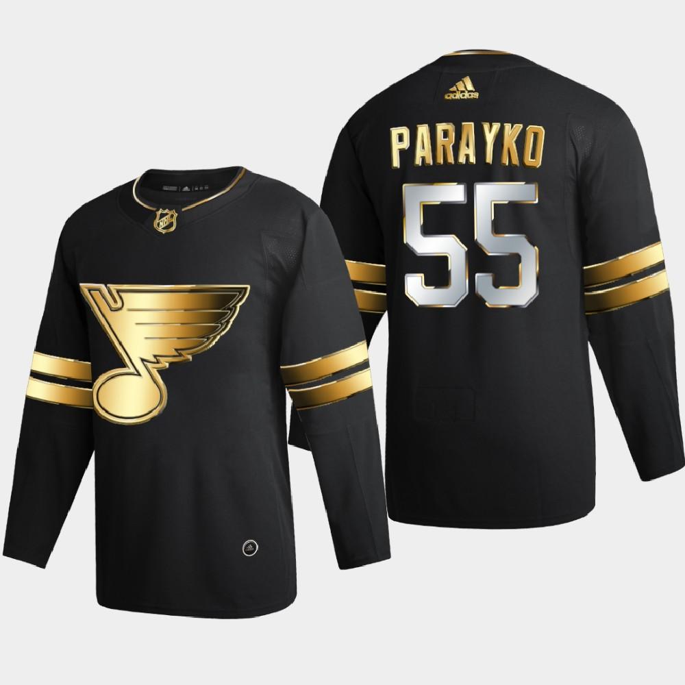 Men's Jersey Black Authentic Golden St. Louis Blues Colton Parayko
