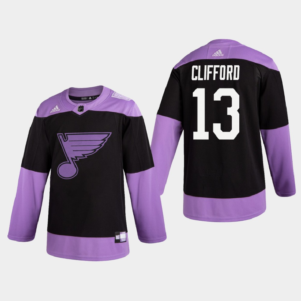 Men's Jersey Black St. Louis Blues Hockey Fights Cancer Kyle Clifford