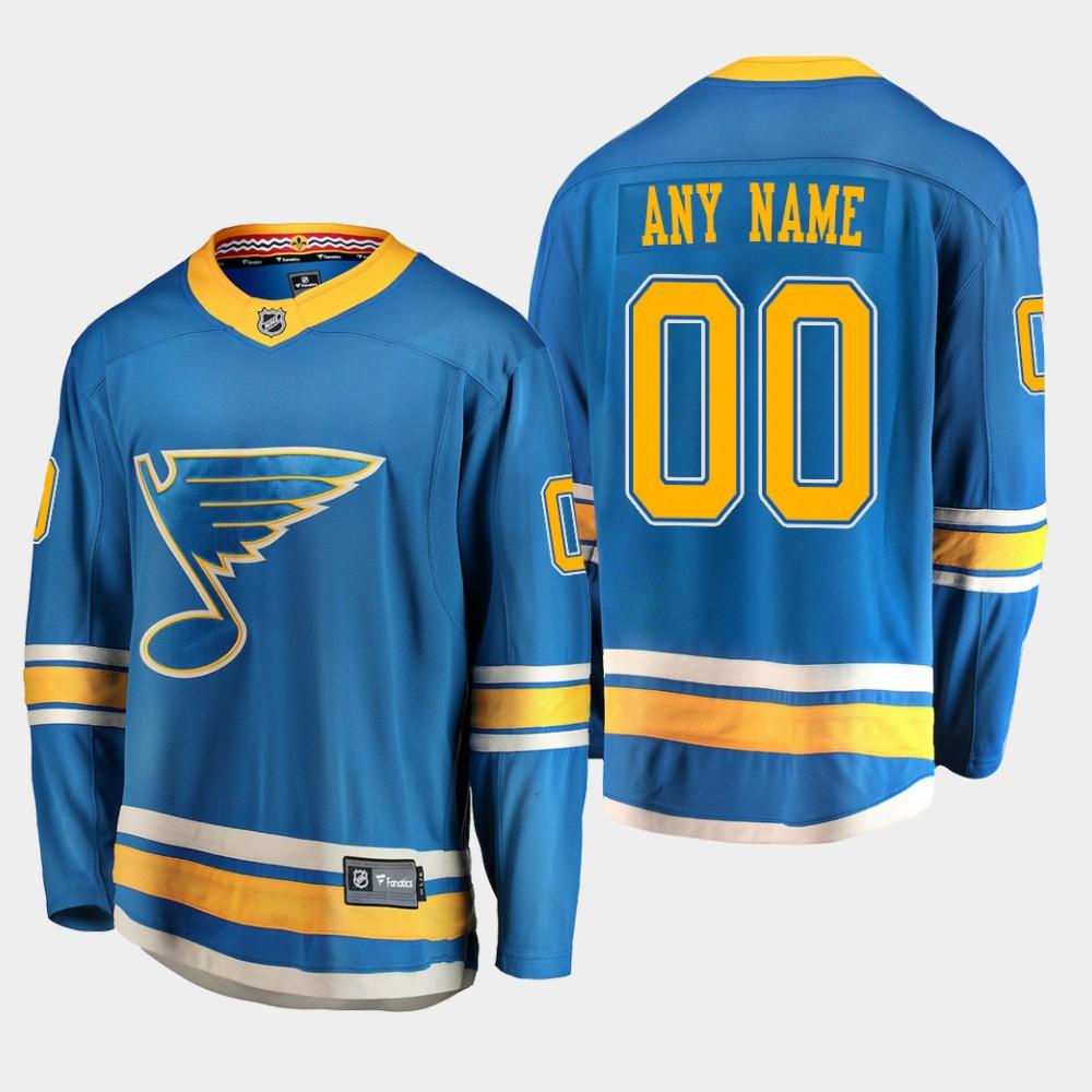 Men's Jersey Blue Custom Alternate St. Louis Blues
