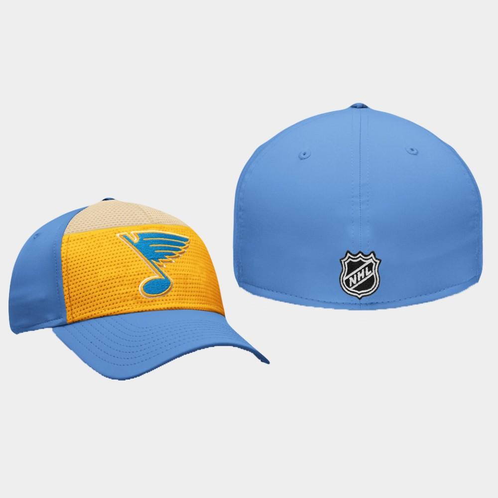 Men's St. Louis Blues Hat Breakaway Alternate Jersey Gold Blue