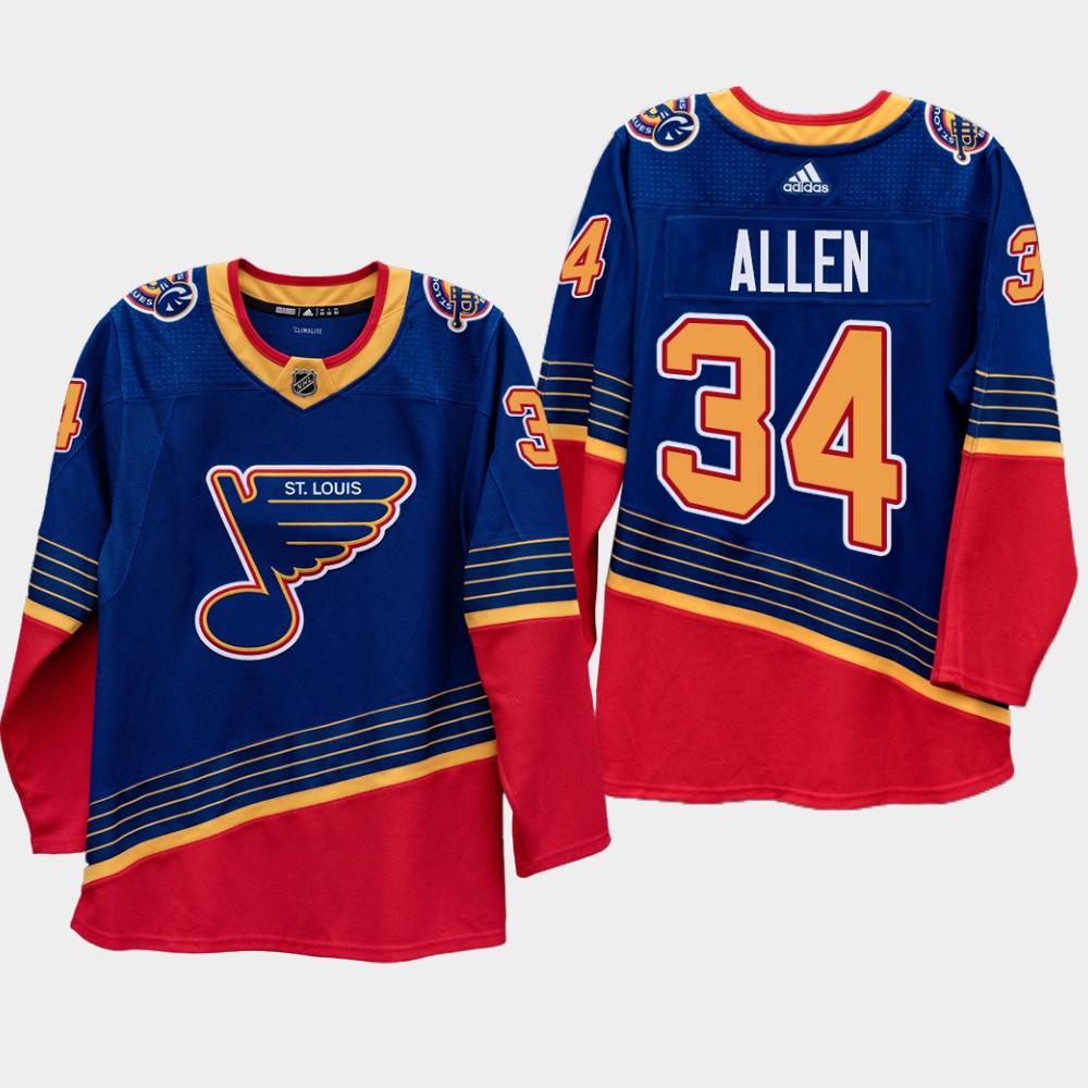 Men's Jersey Jake Allen Royal St. Louis Blues Vintage