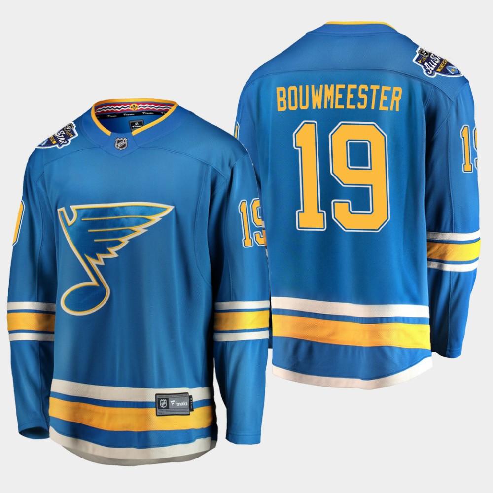 Men's Jersey Blue Alternate St. Louis Blues Jay Bouwmeester