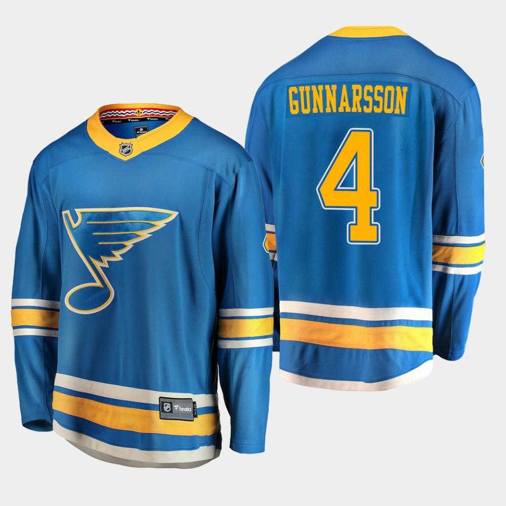 Jersey Blue Alternate Youth St. Louis Blues Carl Gunnarsson