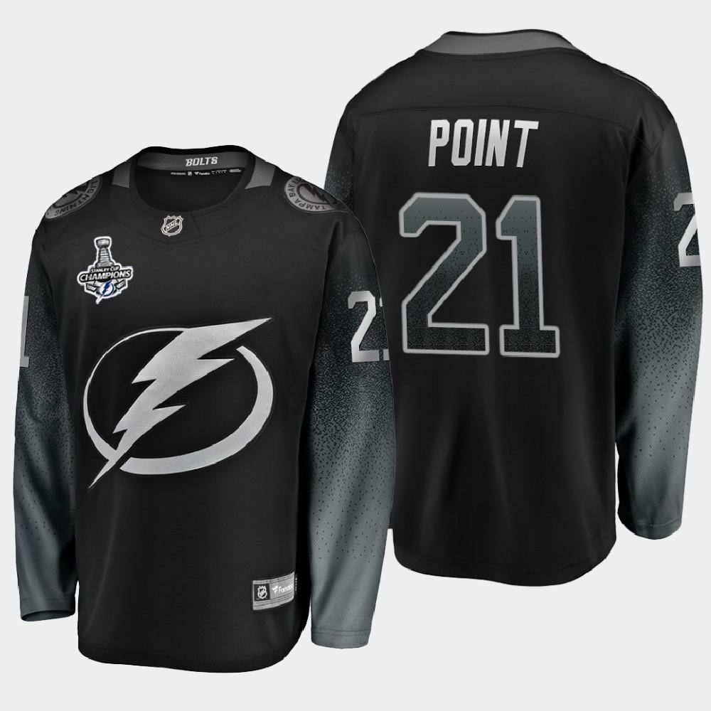 Men's Jersey Black Tampa Bay Lightning Brayden Point 2020 Stanley Cup Champions