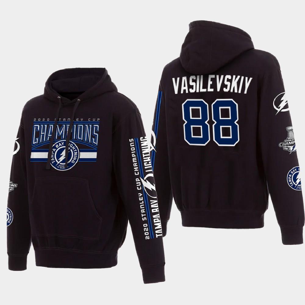 Men's Black Tampa Bay Lightning Andrei Vasilevskiy 2020 Stanley Cup Champions Hoodie