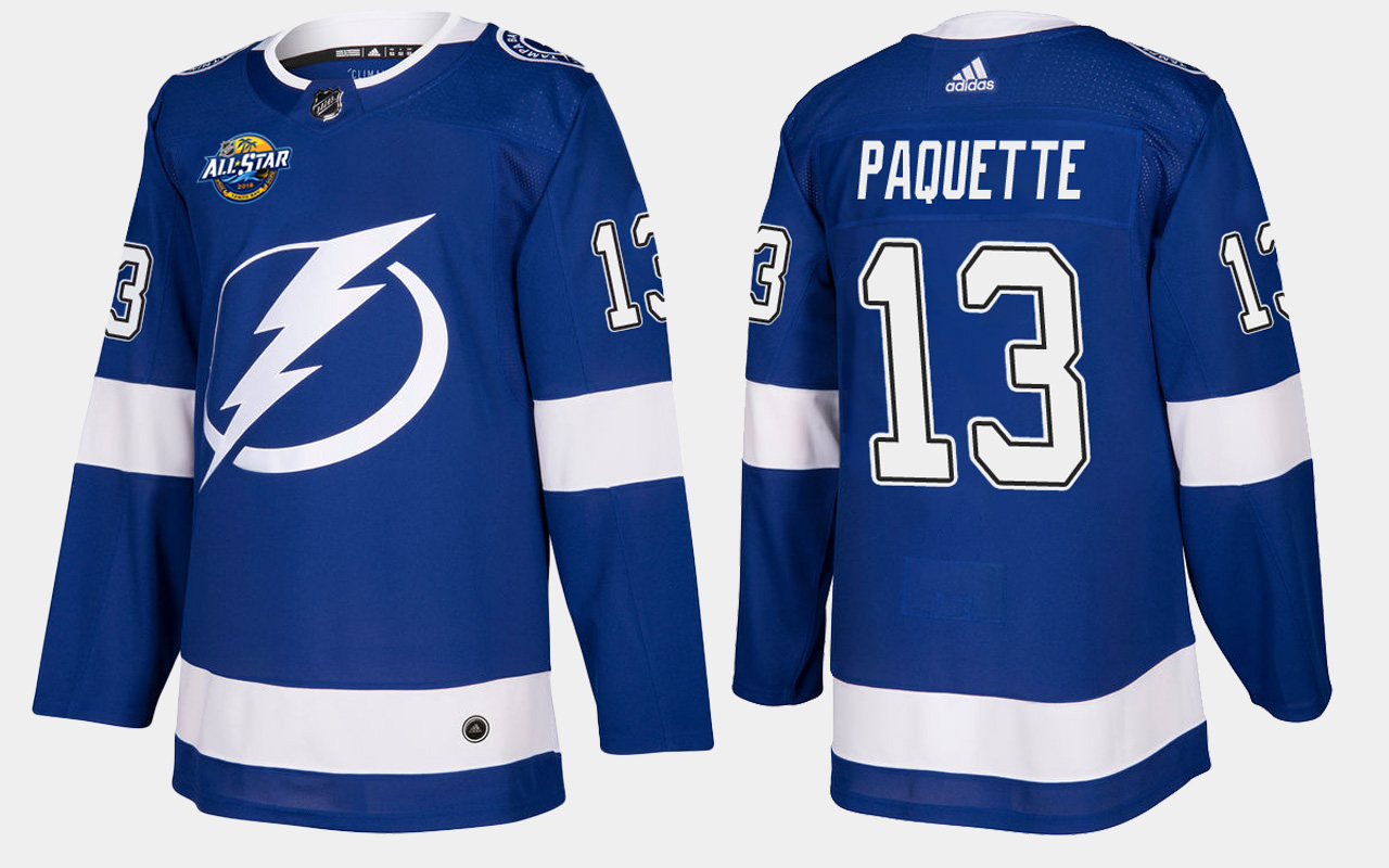 Men's Jersey Blue Home Tampa Bay Lightning Cedric Paquette