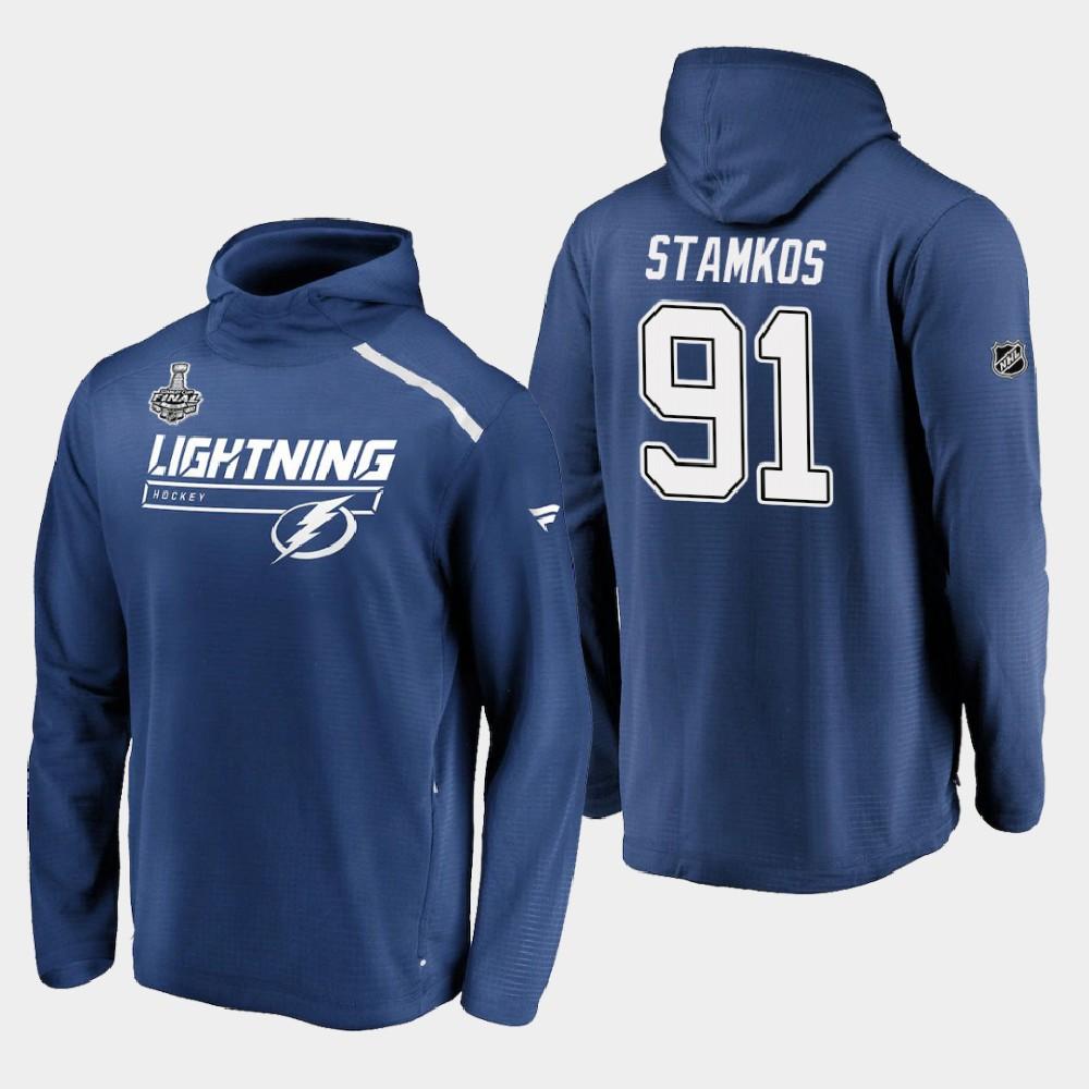 Men's Blue Tampa Bay Lightning Steven Stamkos 2020 Stanley Cup Final Hoodie