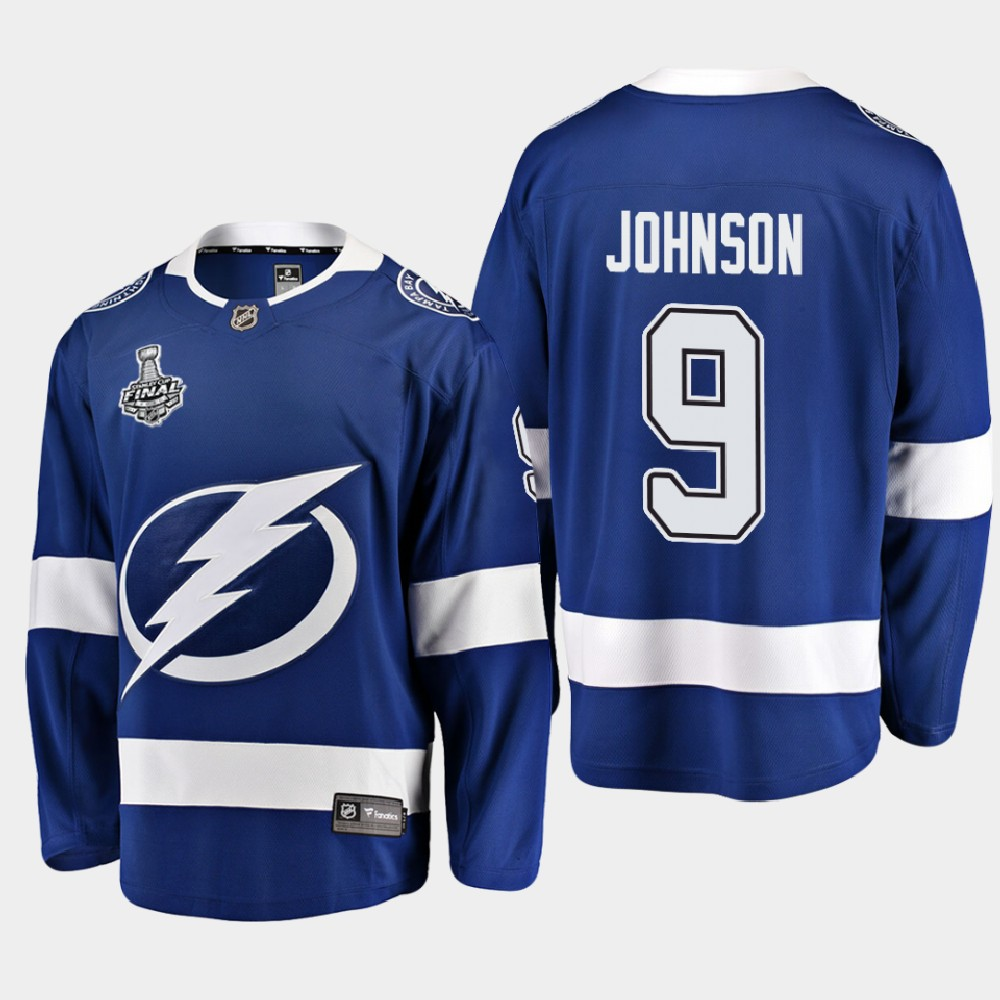 Men's Jersey Blue Tyler Johnson Tampa Bay Lightning 2020 Stanley Cup Final