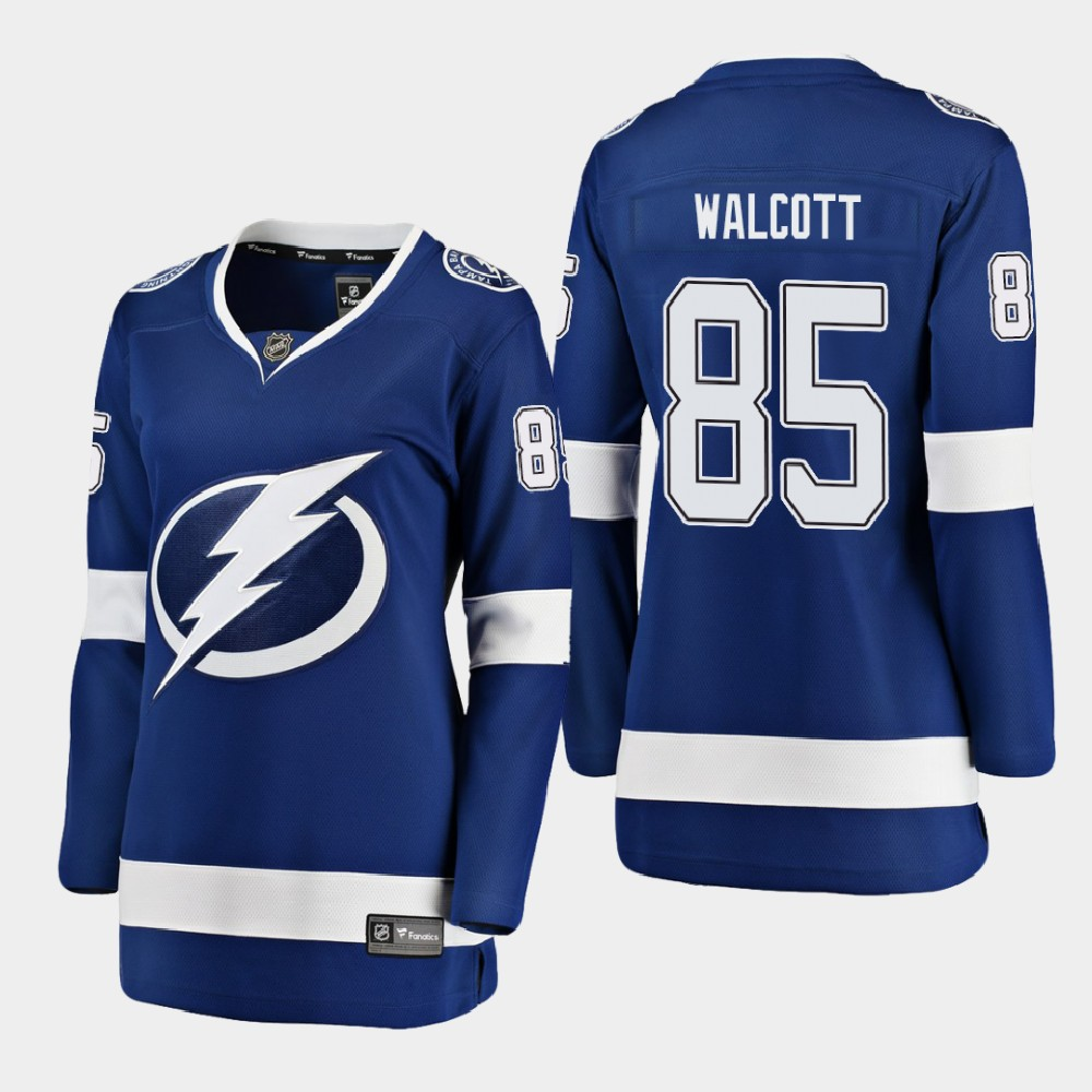 Jersey Blue Home Women's Tampa Bay Lightning Daniel Walcott