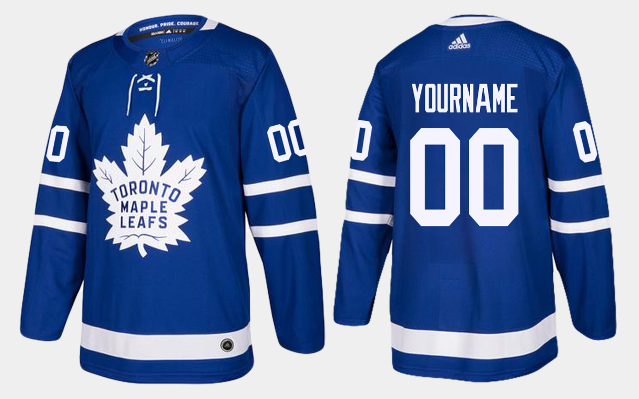 Men's Jersey Toronto Maple Leafs Home Custom Royal