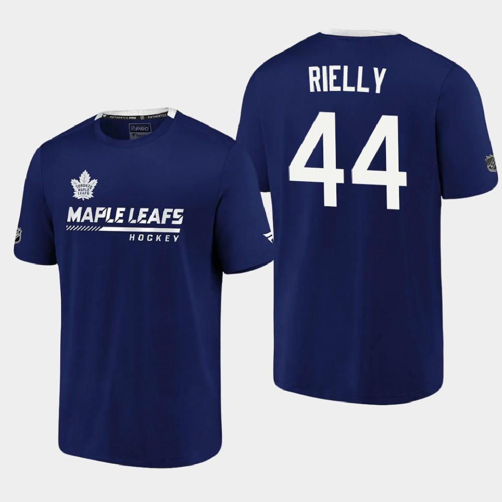 Men's Toronto Maple Leafs Blue Morgan Rielly T-Shirt Authentic Pro