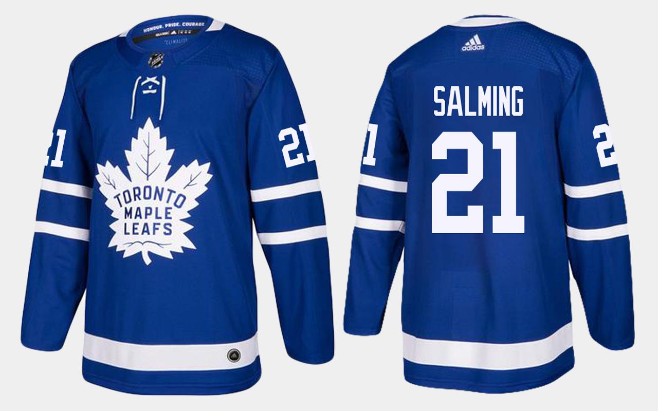 Men's Jersey Toronto Maple Leafs Home Royal Borje Salming