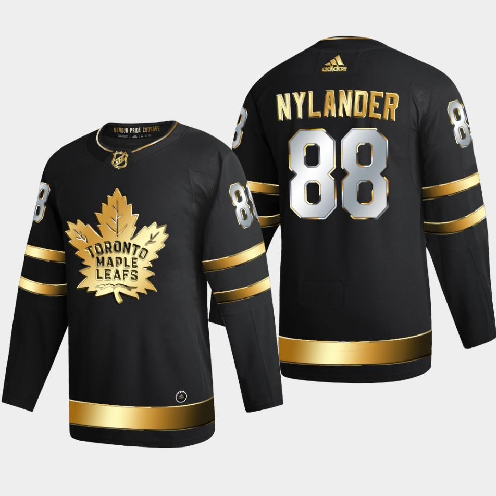 Men's Jersey Toronto Maple Leafs Black Authentic Golden William Nylander