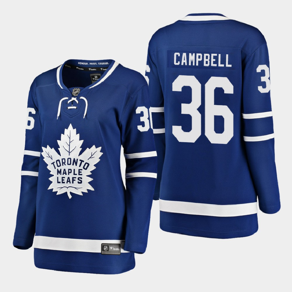 Jersey Toronto Maple Leafs Blue Home Women's Jack Campbell