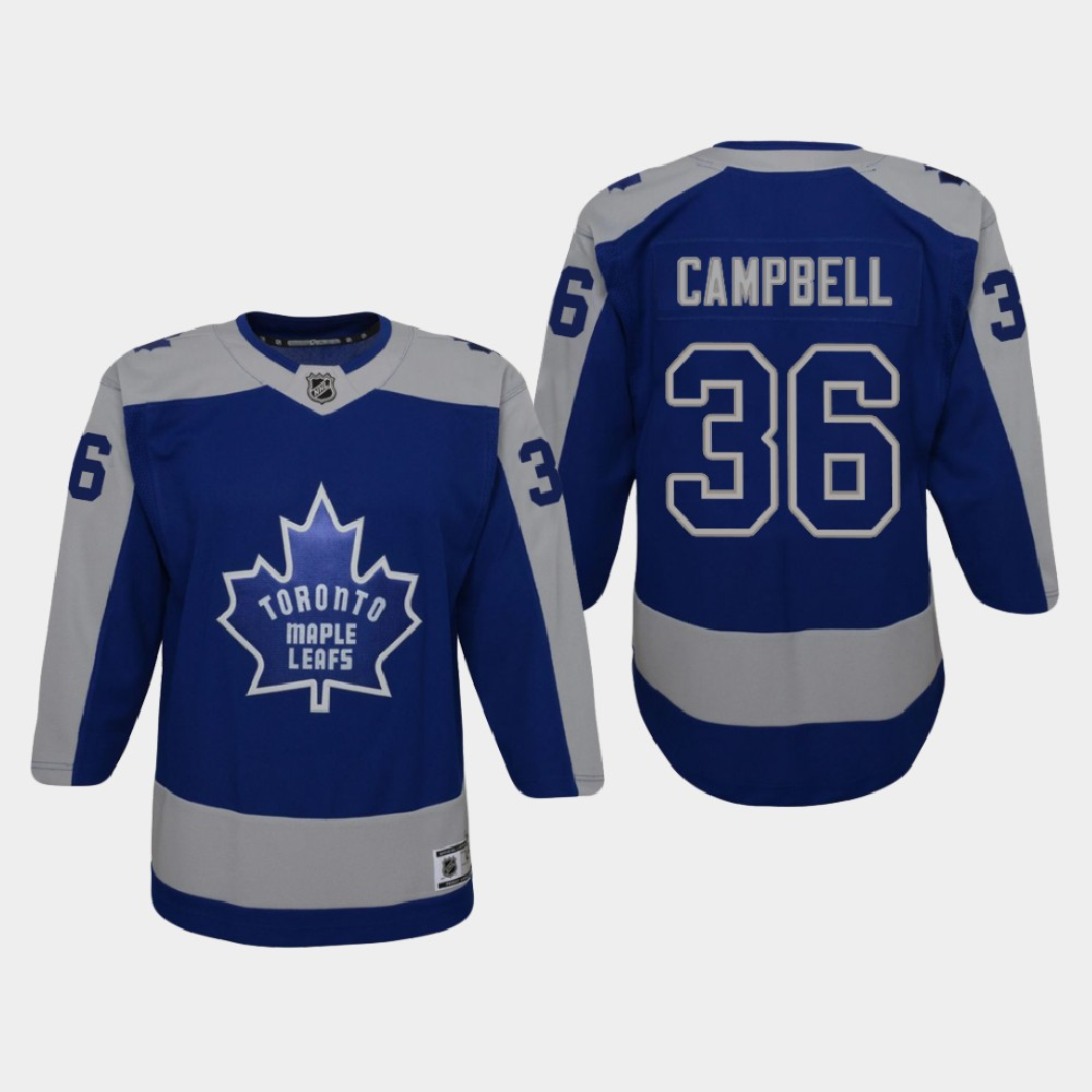 Jersey Toronto Maple Leafs Blue Reverse Retro Youth Jack Campbell