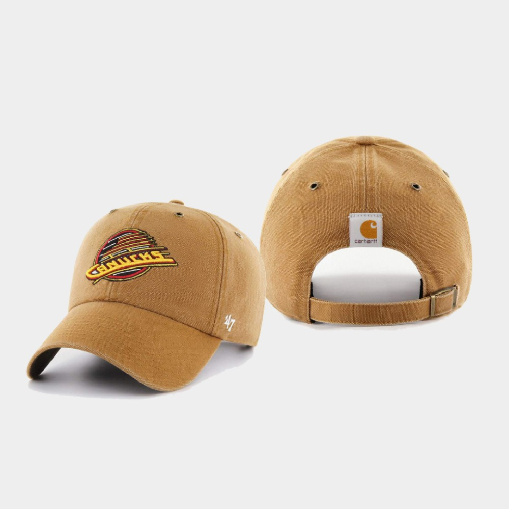 Men's Vancouver Canucks Hat Khaki Carhartt X 47 Brand