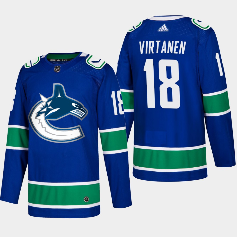 Men's Jersey Blue Home Vancouver Canucks Jake Virtanen