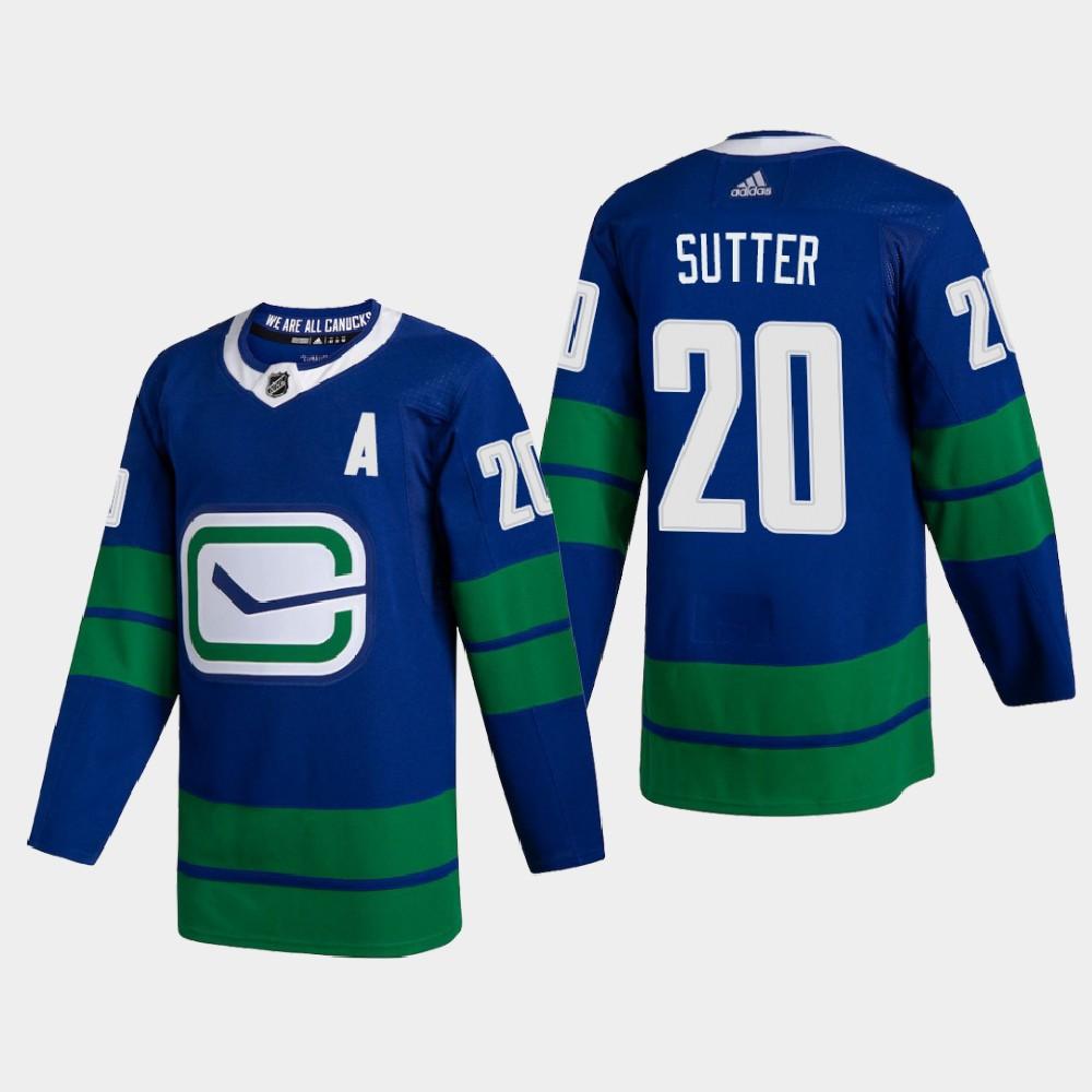Men's Jersey Blue Alternate Vancouver Canucks Brandon Sutter