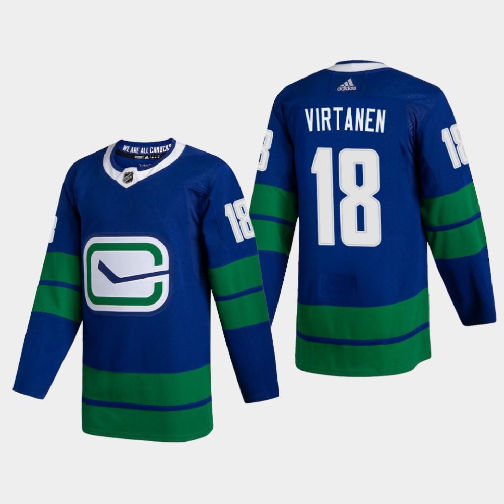 Men's Jersey Blue Alternate Vancouver Canucks Jake Virtanen
