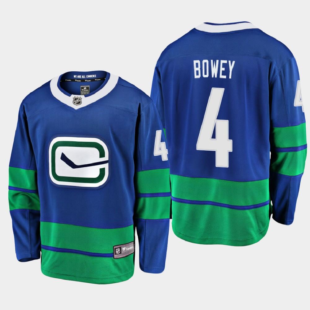 Men's Jersey Blue Alternate Vancouver Canucks Madison Bowey