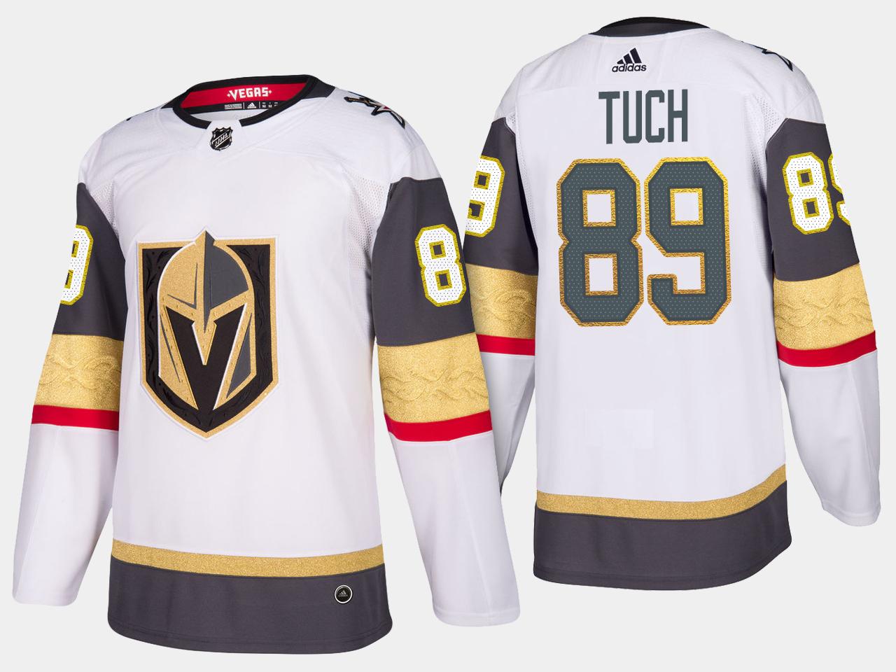 White Men's Jersey Vegas Golden Knights Alex Tuch Road
