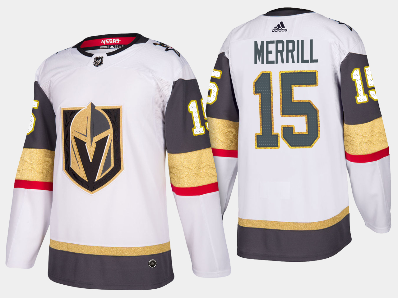 White Men's Jersey Vegas Golden Knights Jon Merrill Road