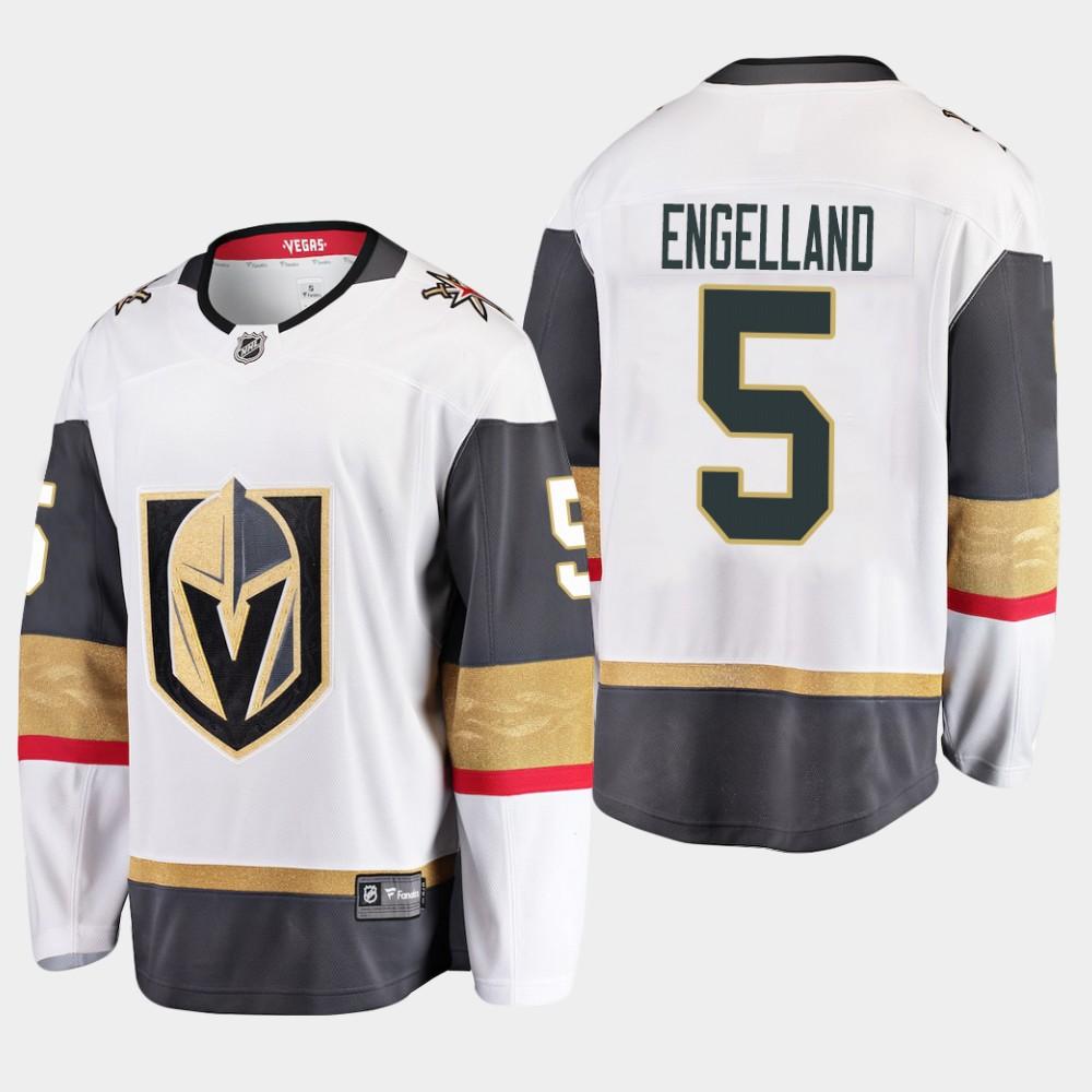 White Men's Jersey Vegas Golden Knights Away Deryk Engelland