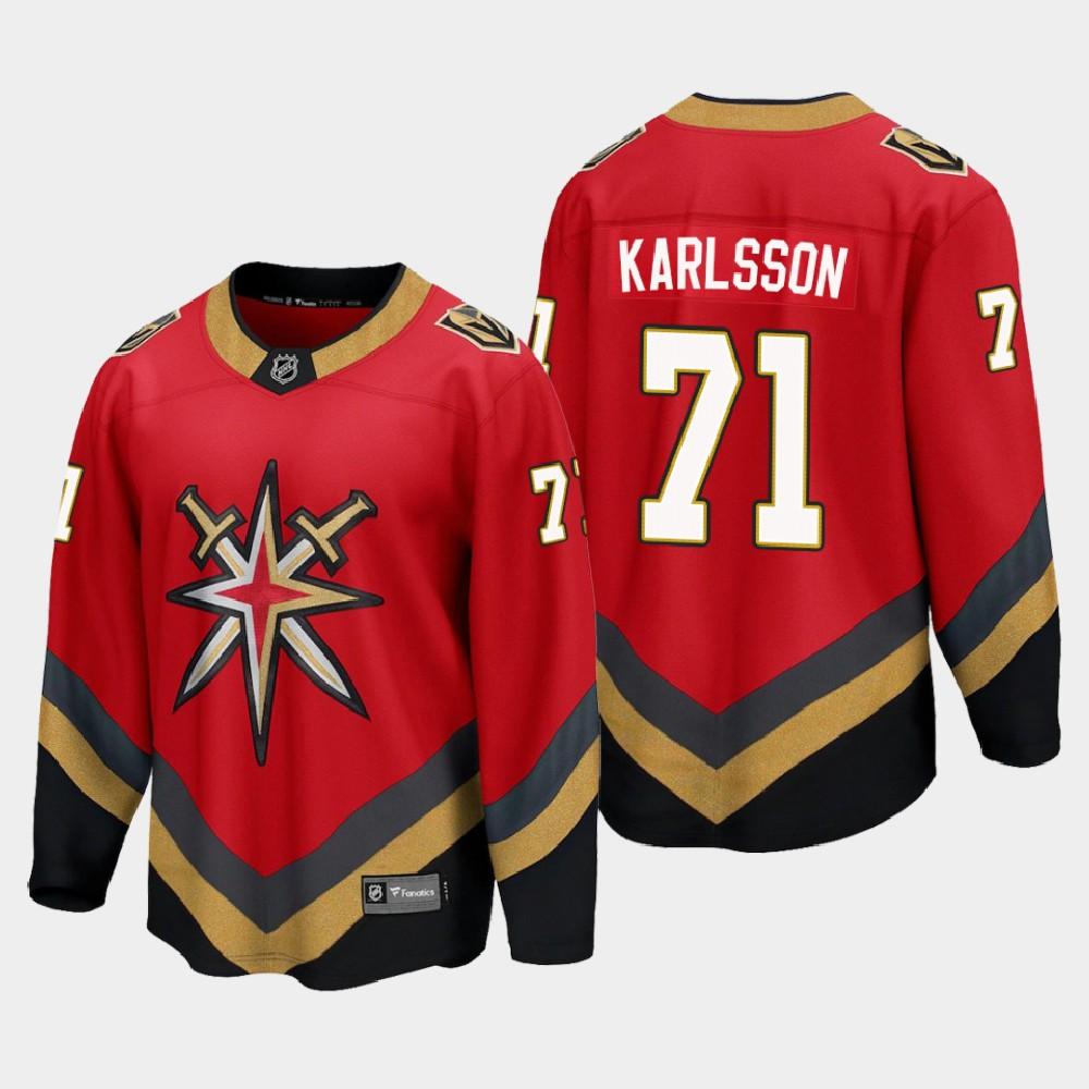Men's Jersey Reverse Retro Red Vegas Golden Knights William Karlsson